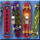Skateboards Handcrafted Double Switchplate Cover