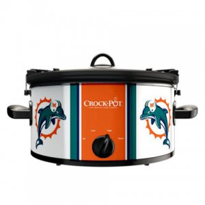 Official NFL Crock-Pot Cook & Carry 6 Quart Slow Cooker - Miami Dolphins