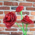 Upcycled Duct tape Like Flowers Red Roses Made from recycled paper great for mothers day
