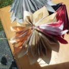 Bouquet of 6 Origami Dahlia Flowers Great for mother day Or Weddings Handcrafted
