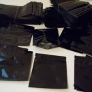 100 pc's Black Ziplock Bags, 3x4, Mylar, Top Feed, Baggie, Herb, Coin, Incense Holder