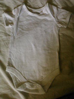 0-3 White Faded Glory Onesie