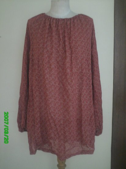 Red Bohemian / Gypsy / Peasant Top - Viscose Fabric