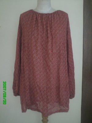 Red Bohemian / Gypsy / Peasant Top - Viscose Fabric