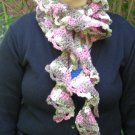Pink Camo Rococo Ruffle Crochet Scarf