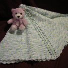 Blue &  Green Baby Boy Crochet Blanket