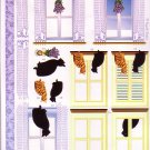 Cats in the window 3D card making kit