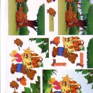 Forest bears 3D card making kit