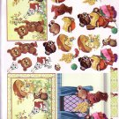 Cute bears at home 3D card making kit