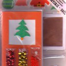 Christmas card making kit for 5 cards Design 1