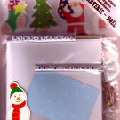 Christmas card making kit 5 cards Design 2