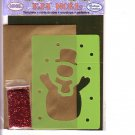Snowman template card making kit
