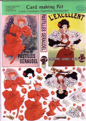 Vintage French Publicity 3D card making kit