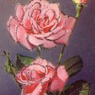 Glittered roses French dated 1954