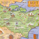 Kent, map card  1960s