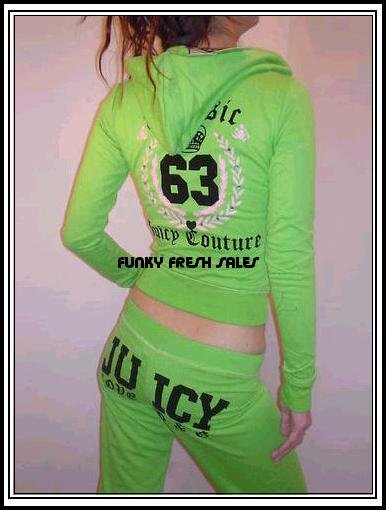 NWT Green Authentic Juicy Couture Classic 63 Set Size Medium