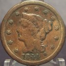1844 Large Cent Braided Hair Fine FREE SHIPPING #102