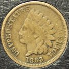 1863 Indian Head VG FREE S&H #107
