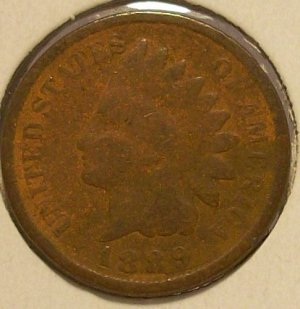 1889 Indian Head Penny G4 #233