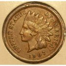 1907 Indian Head Penny F12 FULL LIBERTY #270