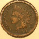 1899 Indian Head Penny Partial Liberty VG #294