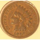 1907 Indian Head Cent VG Partial Liberty #295