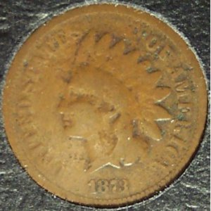 1873 Indian Head Penny Open 3 Variety G4 FREE S&H #301