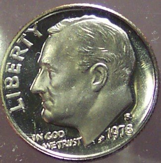 1978-S DCAM Proof Roosevelt Dime PF65 #163