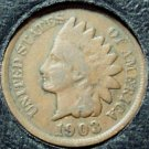 1903 Indian Head Cent VG PARTIAL LIBERTY #202