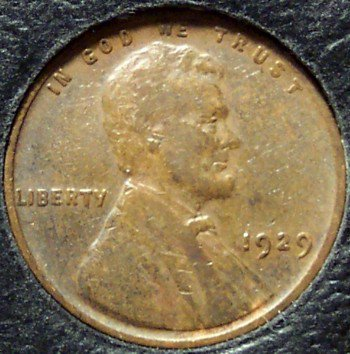 1929 Lincoln Wheat Penny VF #162