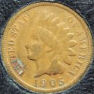 1905 Indian Head Penny Partial Liberty VG #542