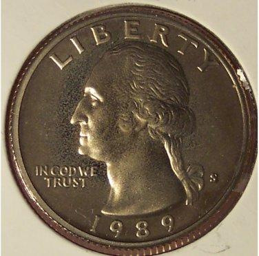 1989-S Proof DCAM Washington Quarter PF65 #539