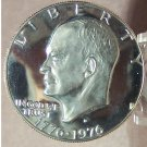 1976-S DCAM Clad Proof Eisenhower Dollar Var 1 PF65 Free shipping #279