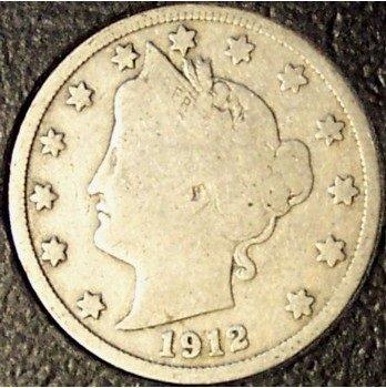 1912-D Liberty Head Nickel VG Partial Liberty #413