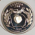1999-S Clad Proof Georgia State Quarter PF65DC #417