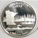 2005-S Clad Proof Minnesota State Quarter PF65DC #419