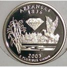 2003-S Clad Proof Arkansas State Quarter PF65DC #421