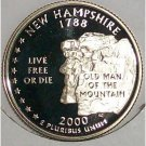 2000-S Clad Proof New Hampshire State Quarter PF65DC #422
