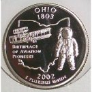 2002-S Clad Proof Ohio State Quarter PF65DC #429