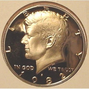 1982-S DCAM PROOF Kennedy Half Dollar PF65 #449