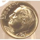 1981-D Roosevelt Dime MS65 Full Bands In the Cello #467