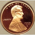 1997-S DCAM Proof Lincoln Cent PF65 #481