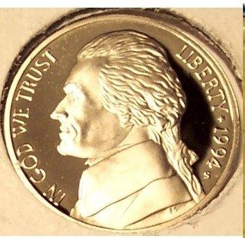 1994-S DCAM Proof Jefferson Nickel PF65 #574