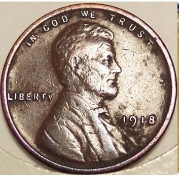 1918 Lincoln Penny VF20 #580