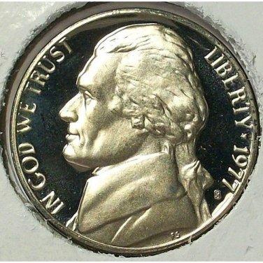 1977-S DCAM Proof Jefferson Nickel PF65 #604