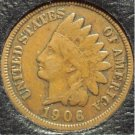1906 Indian Head Cent F12 FULL LIBERTY #621