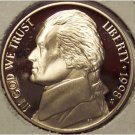 1998-S DCAM PROOF Jefferson Nickel PF65 #624