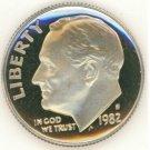 1982-S Proof Roosevelt Dime DCAM #632