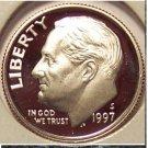 1997-S DCAM Proof Roosevelt Dime PF65 #663