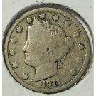 1911 Liberty Head Nickel VG Partial Liberty #736